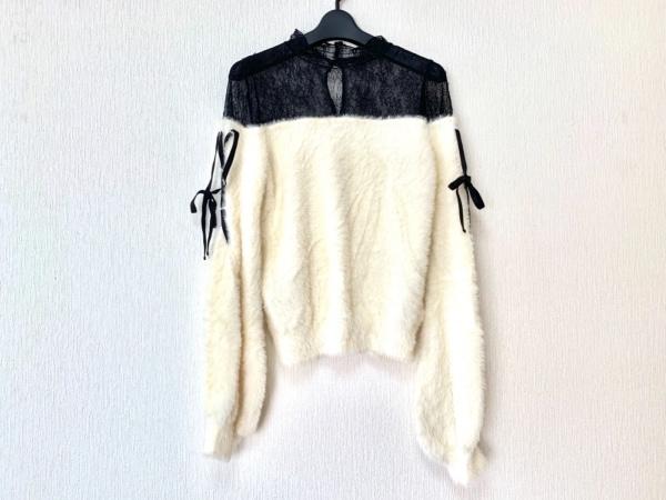 EATME(イートミー) 長袖カットソー サイズF レディース美品  白×黒