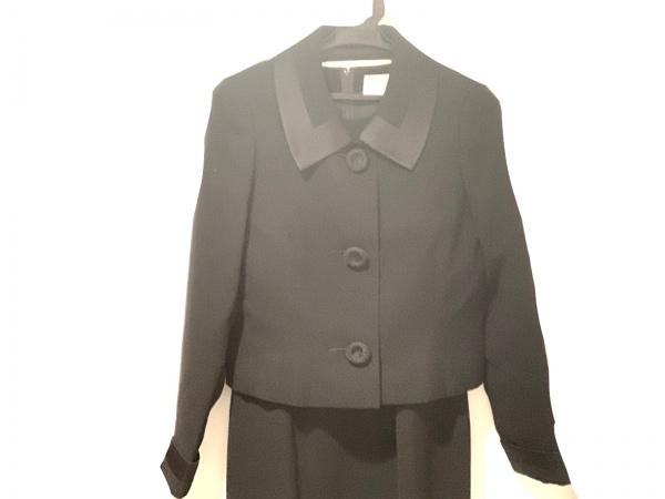 ユキサブロウワタナベ ワンピーススーツ サイズ7 S レディース美品  黒