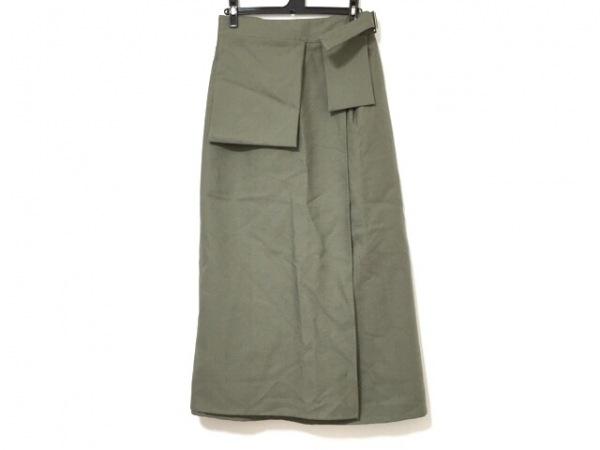 STUDIO NICHOLSON(スタジオニコルソン) 巻きスカート サイズ2 M レディース カーキ