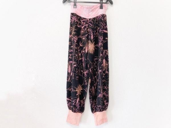 Juana de Arco(ホォアナ デ アルコ) パンツ サイズ3 L レディース 黒×ピンク