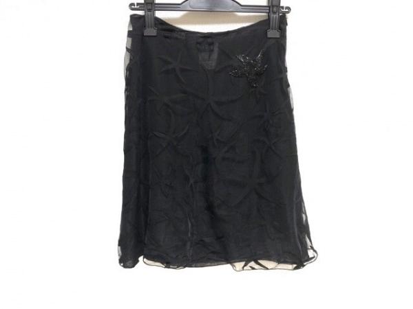 ヴェルサーチジーンズ スカート サイズ38 M レディース美品  黒 ビーズ