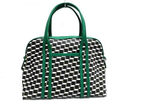PIERRE HARDY(ピエールアルディ) ハンドバッグ美品  黒×グリーン×マルチ