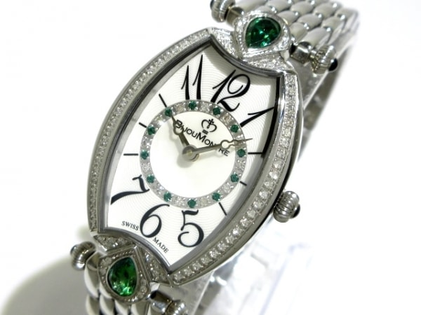 BijouMontre(ビジュモントレ) 腕時計美品  3702T レディース ダイヤべゼル 白