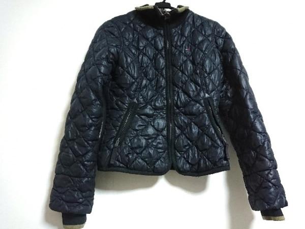 ヒルフィガーデニム ダウンジャケット サイズS レディース 黒×カーキ