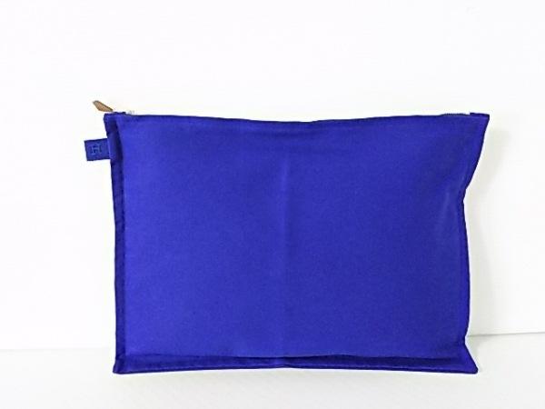 HERMES(エルメス) ポーチ ボラボラ ブルー Lサイズ キャンバス