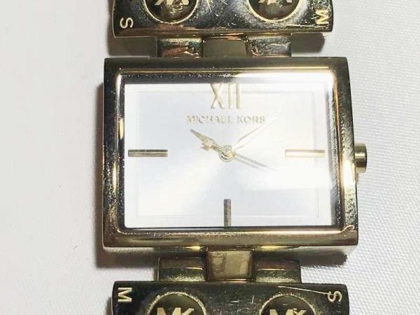 MICHAEL KORS(マイケルコース) 腕時計 MK-2342 レディース 革ベルト シルバー