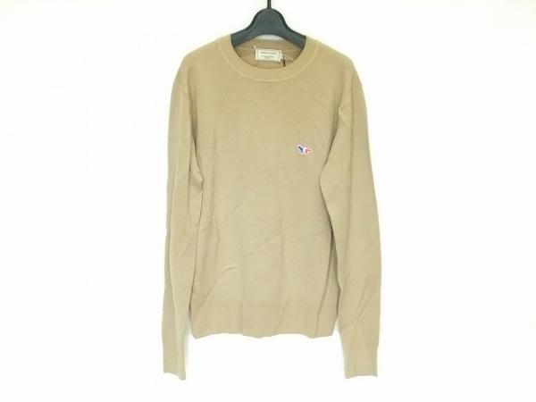 MAISON KITSUNE(メゾンキツネ) 長袖セーター サイズS メンズ美品  ベージュ
