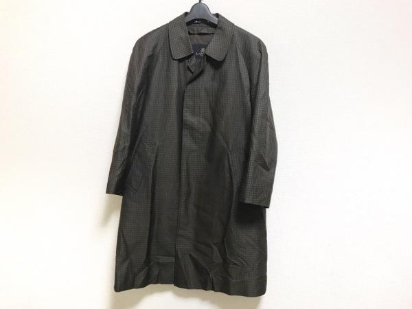 LANVIN(ランバン) コート サイズR48-45 メンズ美品  グリーン×ダークブラウン