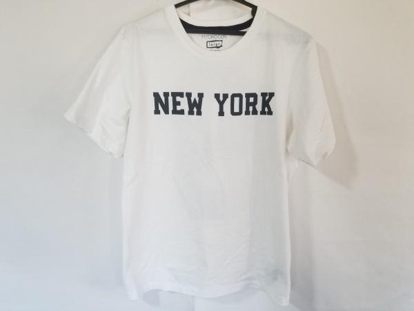 HYDROGEN(ハイドロゲン) 半袖Tシャツ メンズ美品  白×ネイビー