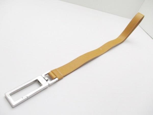 ポルシェデザイン ストラップ美品  ライトブラウン×シルバー レザー×金属素材