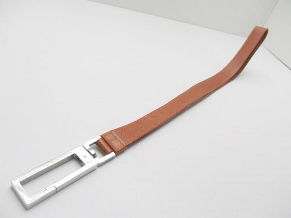 ポルシェデザイン ストラップ美品  ブラウン×シルバー レザー×金属素材