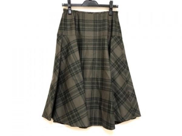 ヨークランド スカート サイズ11AR M レディース美品  ダークグリーン×グリーン
