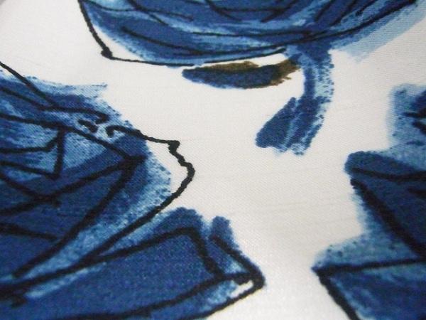 エムズグレイシー ワンピース サイズ40 M レディース 白×ブルー×ダークブラウン