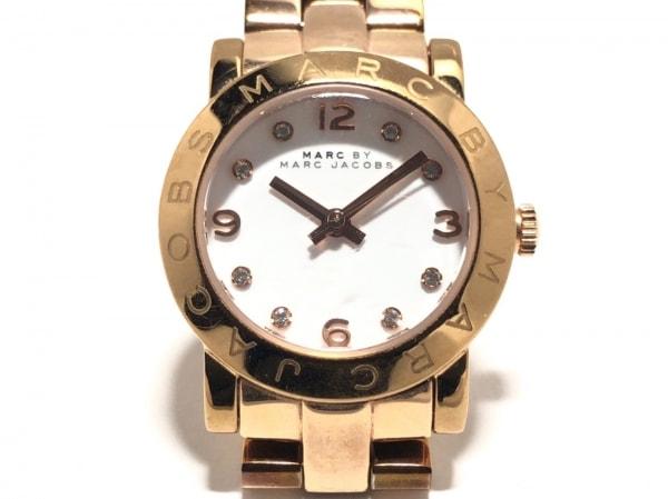 マークジェイコブス 腕時計美品  MBM3078 レディース ラインストーン 白
