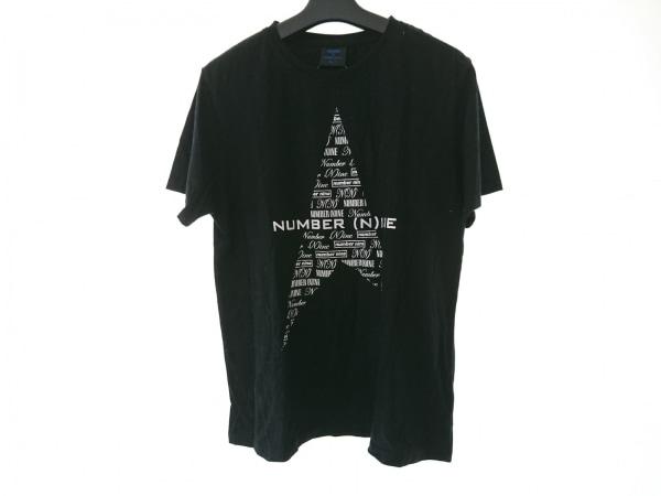 NUMBER (N)INE(ナンバーナイン) 半袖Tシャツ サイズF メンズ 黒×白 ×MARLBORO