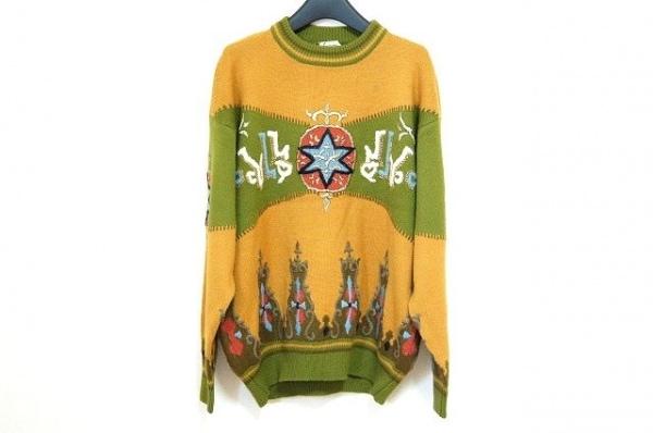 FICCE(フィッチェ) 長袖セーター メンズ美品  ライトブラウン×カーキ×マルチ 刺繍