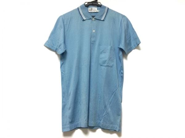 ダンヒル 半袖ポロシャツ サイズXS メンズ ブルー×白×ネイビー