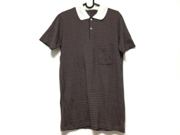 ダンヒル 半袖ポロシャツ サイズXS メンズ ダークネイビー×イエロー×マルチ