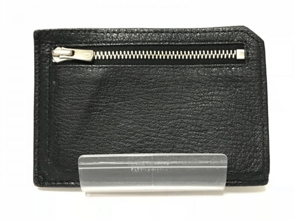 ラルコバレーノ カードケース ダークブラウン×黒 コインケース付き レザー