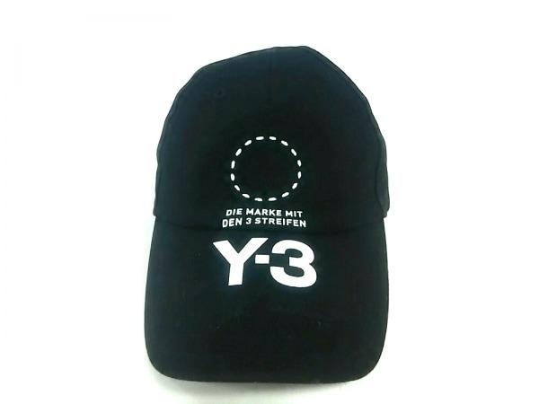 Y-3(ワイスリー) キャップ 58 黒×白 コットン×ポリウレタン