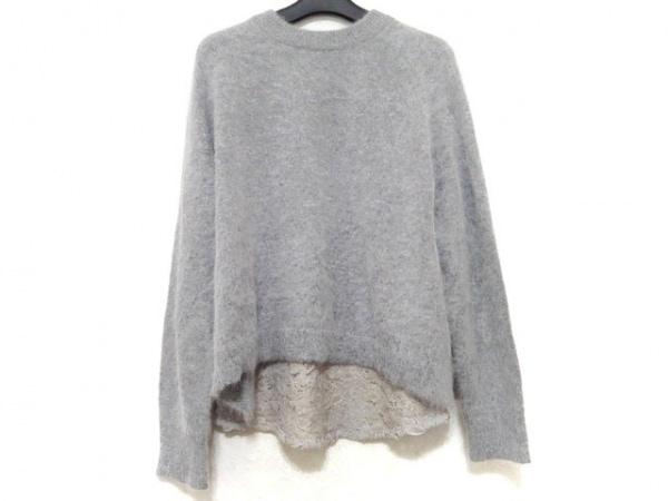 グレースコンチネンタル 長袖セーター サイズ36 S レディース美品  グレー×ベージュ