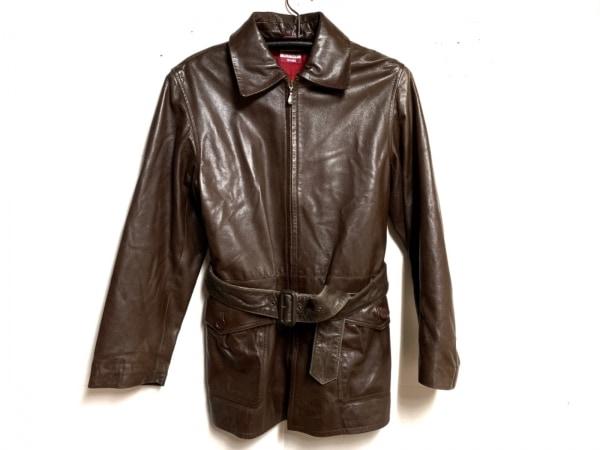 ポールスミスジーンズ コート サイズ40 L レディース ダークブラウン レザー/春・秋物