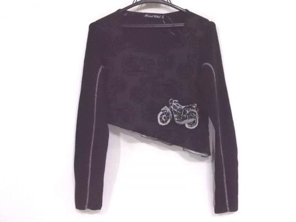 トリコシック 長袖カットソー サイズ44 L レディース新品同様  黒×マルチ バイク