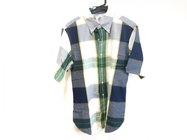 ブラックフリース バイ ブルックスブラザーズ 半袖シャツ メンズ チェック柄