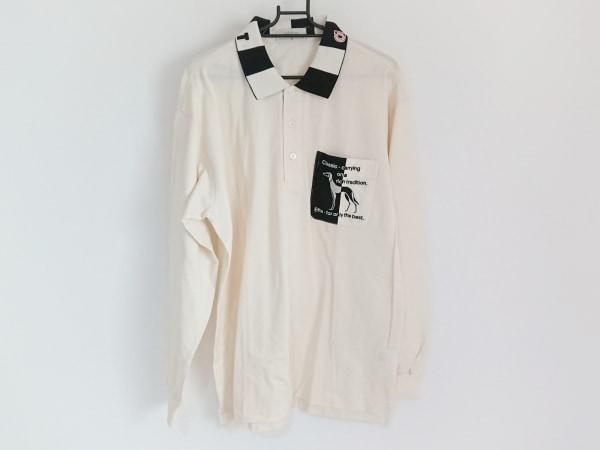 Adabat(アダバット) 半袖ポロシャツ メンズ アイボリー×黒×マルチ 1