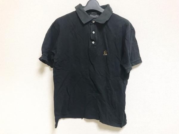 クリスチャンディオールムッシュ 半袖ポロシャツ メンズ 黒×マルチ