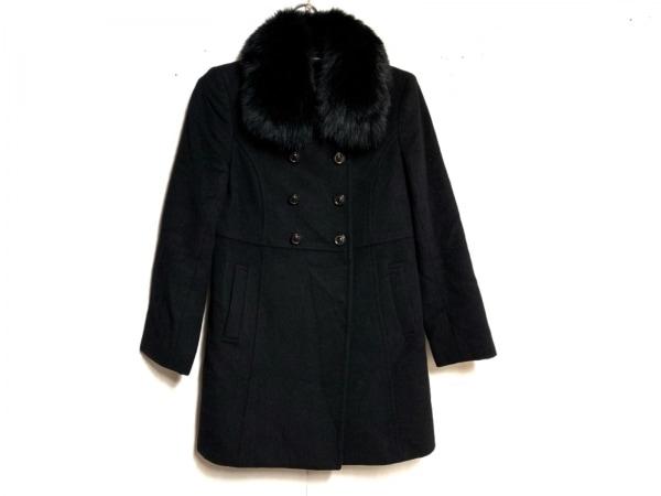 anySiS(エニシス) コート サイズ2 M レディース 黒 ファー/冬物
