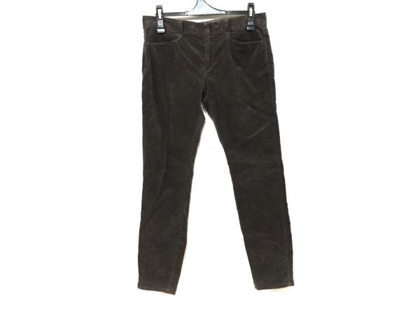 23区(ニジュウサンク) パンツ サイズ42 L レディース ダークブラウン ベロア
