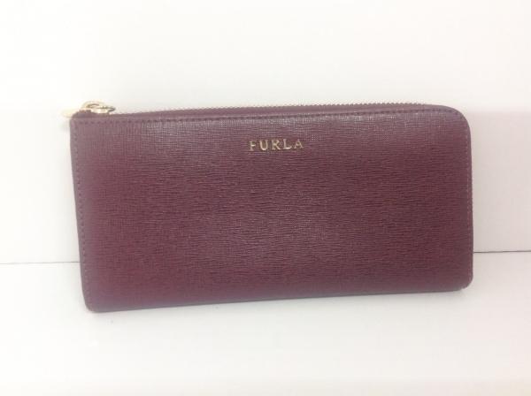 FURLA(フルラ) 長財布 ボルドー L字ファスナー レザー