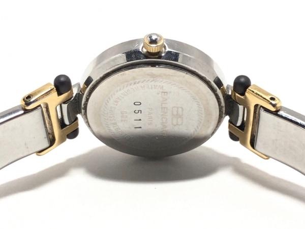 バレンシアガライセンス 腕時計美品  0511 レディース ラインストーンベゼル 白