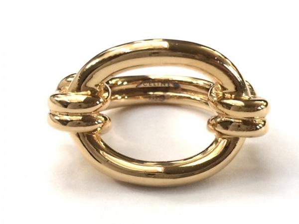 CELINE(セリーヌ) スカーフリング美品  シルバー ゴールド