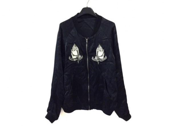 ルードギャラリー ブルゾン サイズ3 L メンズ 黒 リバーシブル/刺繍/春・秋物