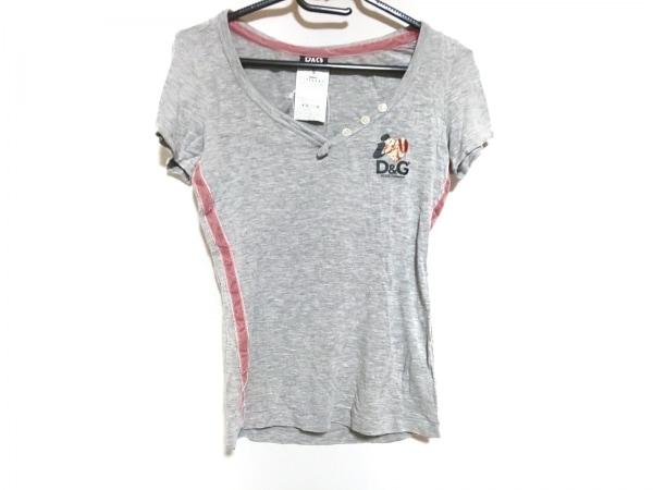 ディーアンドジー 半袖Tシャツ サイズS レディース ライトグレー×ピンク×マルチ