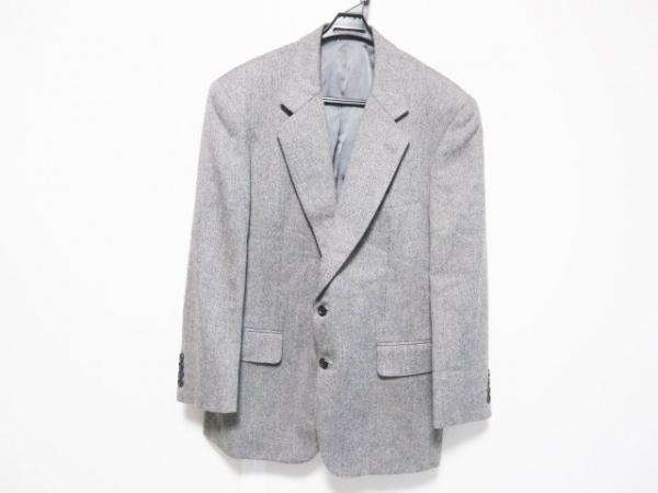ターンブル&アッサー ジャケット サイズAB-5 メンズ ダークグレー×グレー ネーム刺繍