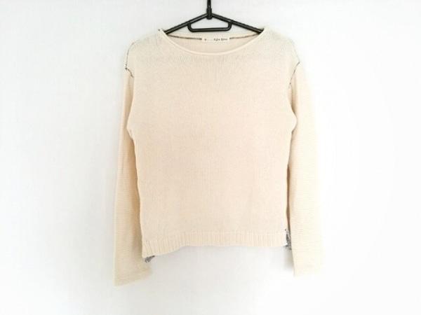 パラスパレス 長袖セーター サイズ0 XS レディース アイボリー×ネイビー コットン