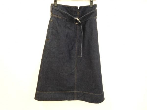 MACPHEE(マカフィ) ロングスカート サイズ36 S レディース美品  ダークネイビー