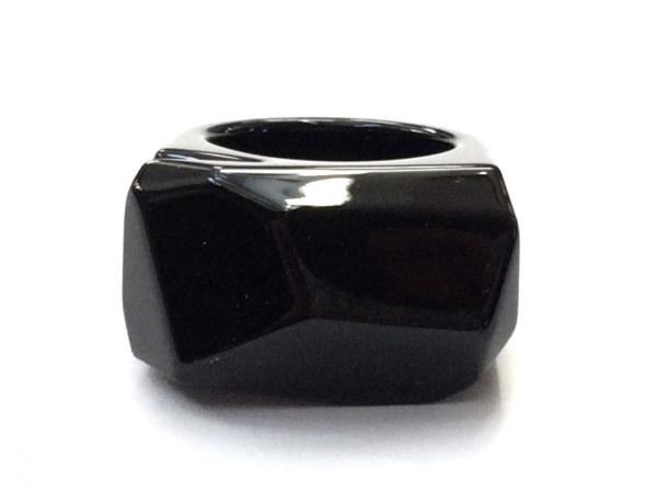 Baccarat(バカラ) リング美品  クリスタルガラス 黒