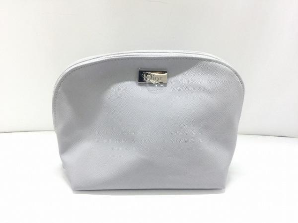 Dior Beauty(ディオールビューティー) ポーチ美品  グレー PVC(塩化ビニール)