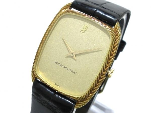 オーデマ・ピゲ 腕時計 - レディース K18YG/社外革ベルト・尾錠/アンティーク