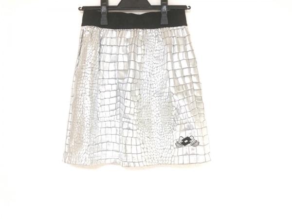 DRESS CAMP(ドレスキャンプ) スカート サイズM レディース美品  シルバー×黒
