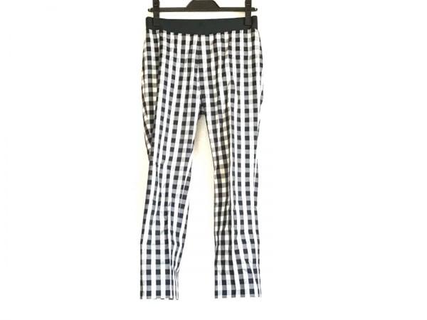 M.Fil(エム.フィル) パンツ サイズ38 M レディース 黒×白 チェック柄