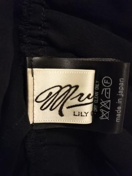MUVEIL(ミュベール) ワンピース サイズ38 M レディース美品  黒 フリル/シースルー