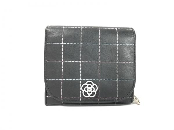 CLATHAS(クレイサス) 2つ折り財布 ダークネイビー×ピンク×マルチ チェック柄 合皮