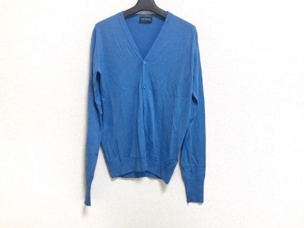 JOHN SMEDLEY(ジョンスメドレー) カーディガン サイズS メンズ美品  ブルー Vあき