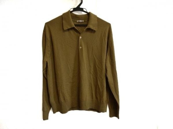 AURALEE(オーラリー) 長袖ポロシャツ サイズ1 S レディース ブラウン ニット