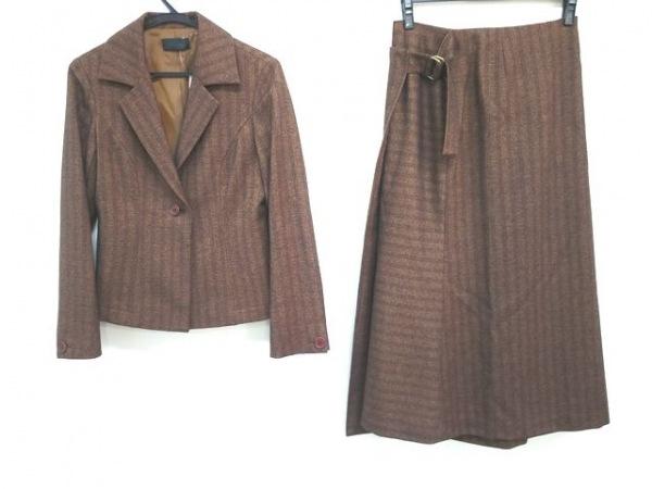 GIGLI(ジリ) スカートスーツ サイズ38 M レディース美品  ブラウン×ダークブラウン